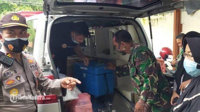115 Vaksin Covid Dipindahkan ke Puskesmas Palengaan Pamekasan, Pendistribusian Dikawal Ketat Polisi