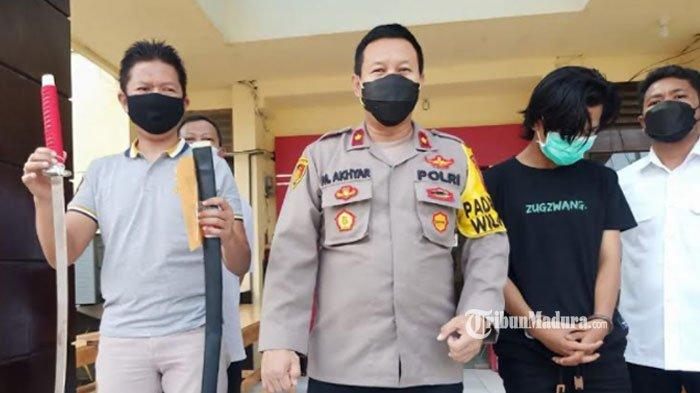 Cuma Demi Konten, Kelompok Remaja di Surabaya Bahayakan Orang Lain, Bawa Samurai Keliling Jalanan