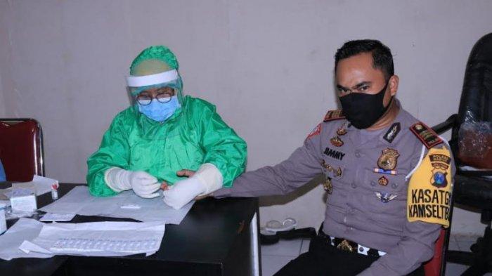 Anggota Polres Madiun dan Tahanan Jalani Rapid Test untuk Cegah Penyebaran Covid-19
