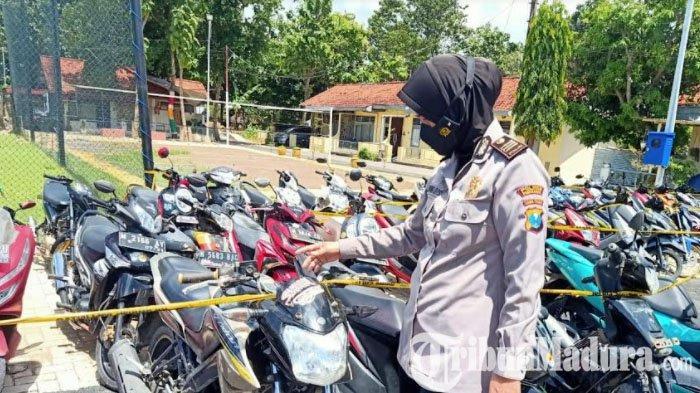 Polres Pamekasan Tilang 120 Motor Balap Liar di Jalan Kabupaten, Digiring ke Mapolres Jalan Kaki