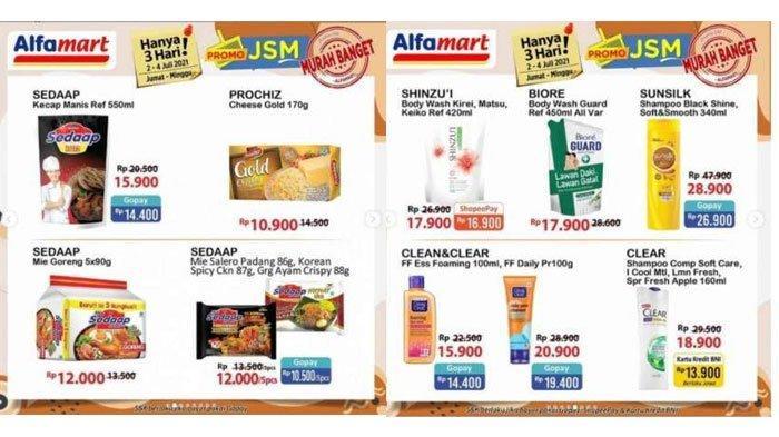 Katalog Promo JSM Alfamart Periode 4 Juli 2021, Diskon Minyak Goreng, Sabun Cuci Muka hingga Camilan
