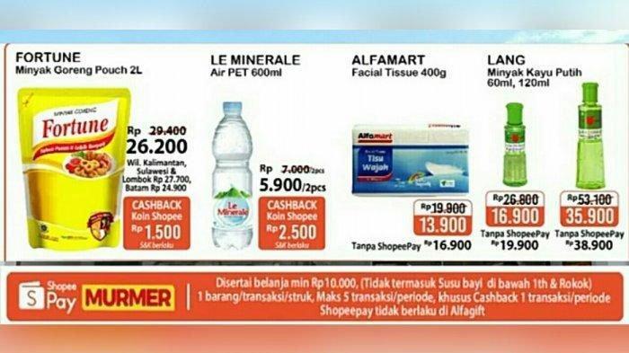 Katalog Promo JSM Alfamart Minggu 10 Januari 2021, Promo ShopeePay dan GoPay, Minyak Goreng Murah