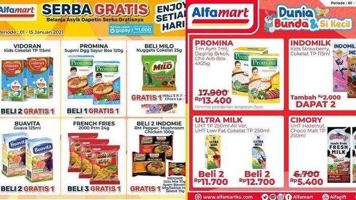 Daftar Promo Alfamart Selasa 12 Januari 2021, Promo Menarik GoPay, ShopeePay Hingga Promo Gratis