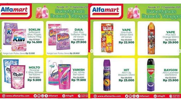 Katalog Promo AlfamartPeriode 8 September 2020, Diskon Harga Produk Sabun Mandi hinggaDeterjen