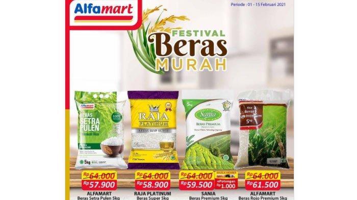 Daftar Promo Alfamart Periode Februari 2021, Festival Beras Murah hingga Valentine Milk Fair