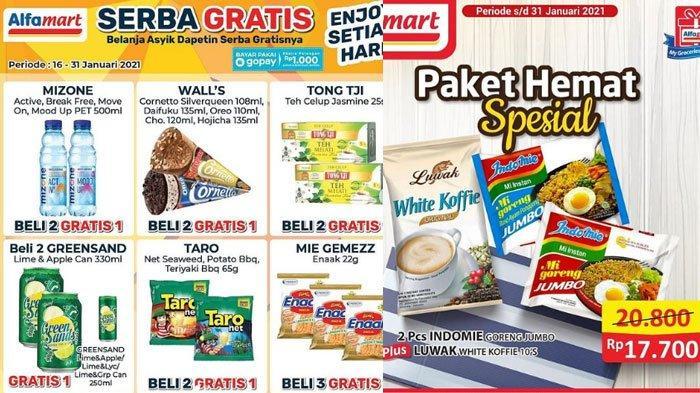 Katalog Promo Alfamart Akhir Pekan pada 29 Januari 2021, ada Promo GoPay dan ShopeePay