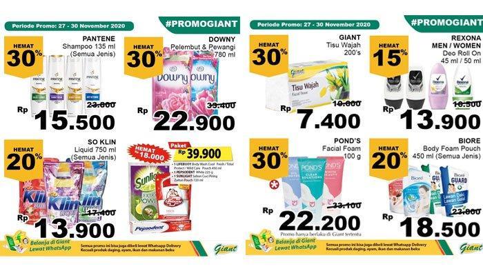 Katalog Promo Giant 29 November 2020, Ada Diskon Harga Sabun Mandi, Shampoo, hingga Deterjen Cair