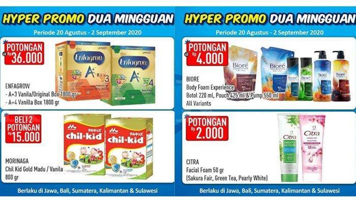 Promo Hypermart Periode20 Agustus – 2 September 2020,Diskon Harga Susu Bayi hingga Sabun Mandi