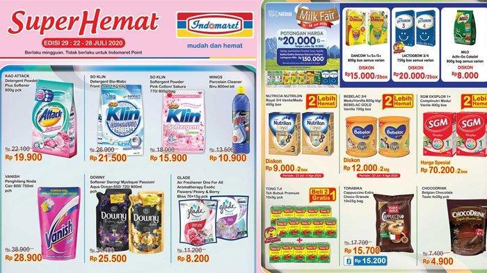 KatalogPromo Indomaret Super Hemat Sampai 28 Juli 2020, Diskon Harga Susu hingga Deterjen