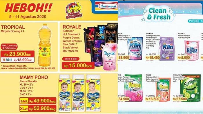 Katalog Promo Indomaret Senin 10 Agustus 2020, Diskon Harga Belanja Minyak Goreng hingga Deterjen