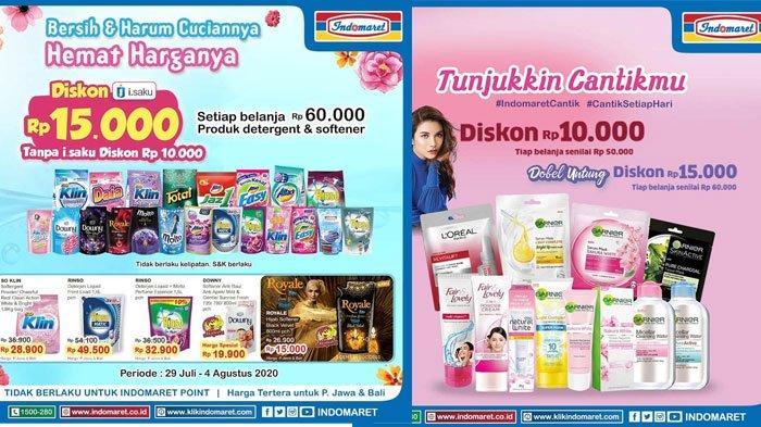 Katalog Promo Indomaret Periode 29 Juli - 4 Agustus 2020, Diskon Harga Deterjen hingga Sabun Bayi