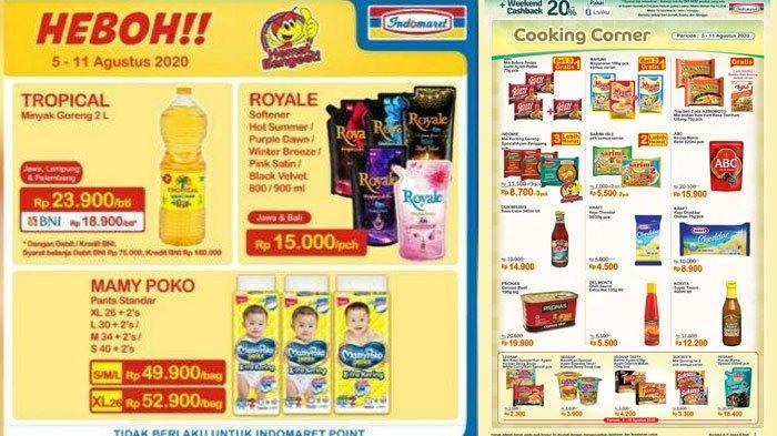 Katalog Promo Indomaret Selasa 11 Agustus 2020, Promo Super Hemat Minyak Goreng Hingga Makanan