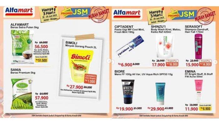Katalog Promo JSM Alfamart Hari Ini, Diskon Beras, Minyak Goreng hingga Popok, Berlaku Cuma 3 Hari