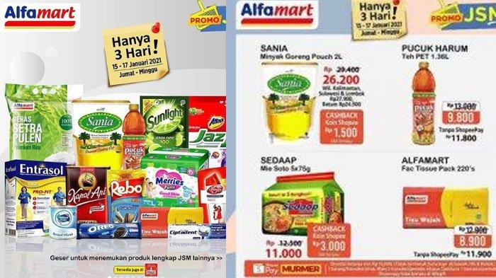 Katalog Promo JSM Alfamart Sabtu 16 Januari 2021, Promo ShopeePay, GoPay Hingga Promo Gratis