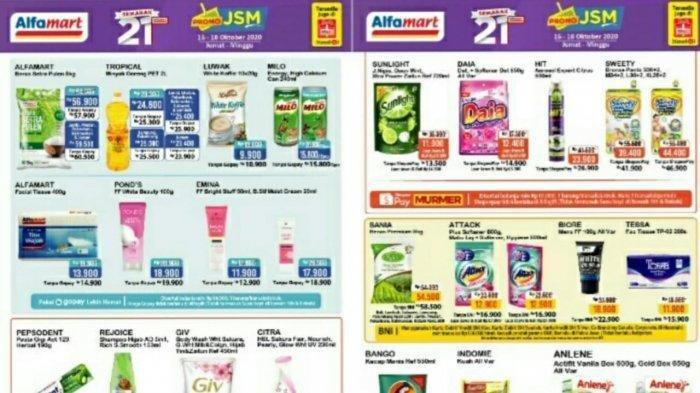 Katalog Promo Alfamart 17 Oktober 2020, Diskon Harga Susu, Camilan hingga Deterjen Tinggal 2 Hari