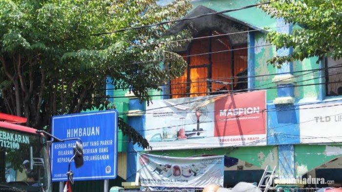 BREAKING NEWS - Kebakaran di Pasar Larangan Sidoarjo, Empat Ruko Ludes Terbakar