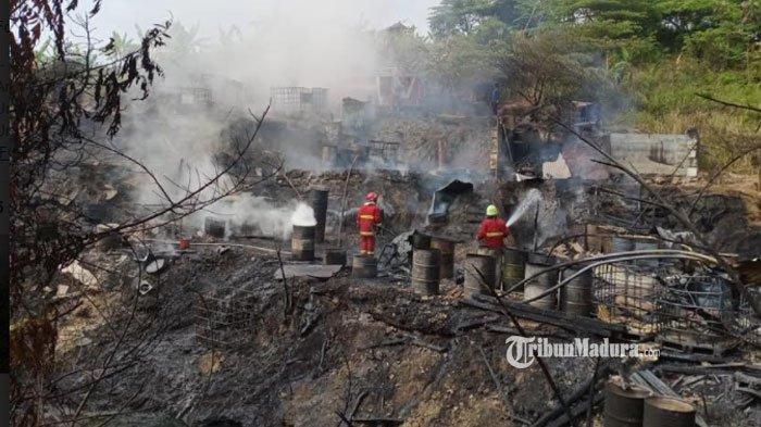Tambang Minyak di Bojonegoro Terbakar, Minyak yang Menetes ke Api saat Penyulingan Diduga Jadi Sebab
