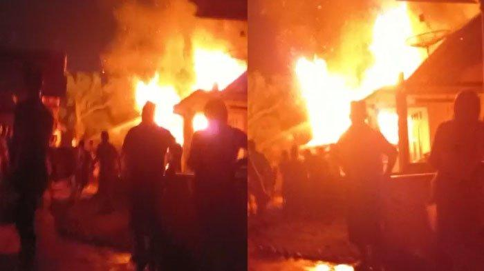 Kandang Sapi di Tengah Permukiman Ludes Terbakar, Warga Desa Talun Tuban Panik hingga Keluar Rumah