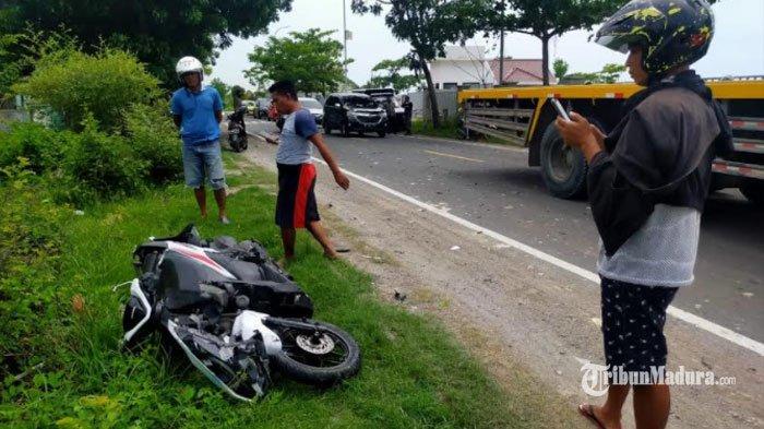 Kecelakaan Motor di Kawasan Black Spot Sampang, Motor Anak 16 Tahun Tabrak Sepeda Warga Pamekasan
