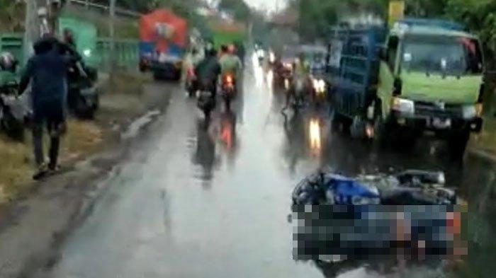 Berkendara saat Hujan, Pengendara Motor Tergelincir hingga Terjatuh, Meninggal di Lokasi Kejadian