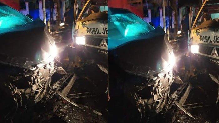 BREAKING NEWS - Tabrakan Beruntun Ambulans Jenazah dengan Truk Polisi dan Mobil Pribadi di Jember