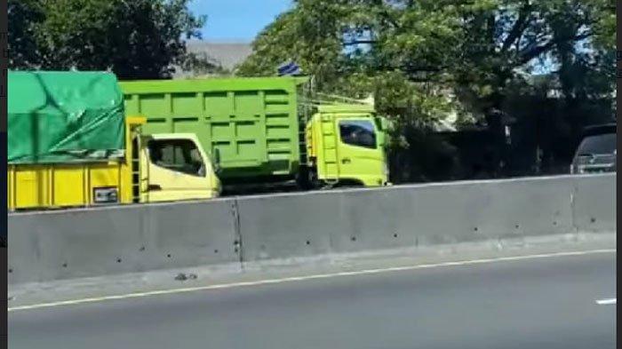 Kecelakaan di Jalan Tol, Truk Muatan Cairan Kimia Terguling, Nyaris Menutupi Seluruh Ruas Jalan