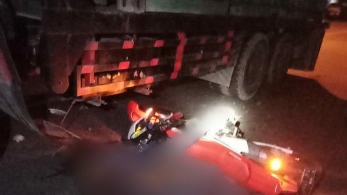 Pemuda 21 Tahun Tewas Seusai Kecelakaan Maut, Honda CRF Tabrak Truk Kontainer, Korban Diduga Mabuk