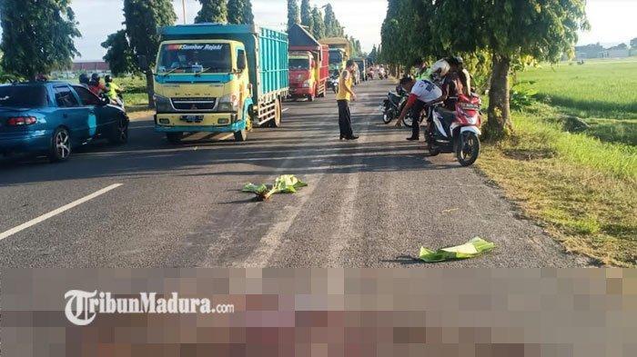 Kecelakaan Maut Tuban, Usai Tabrak Pejalan Kaki, Pengendara Motor ini Ditabrak Truk, Simak Kronologi