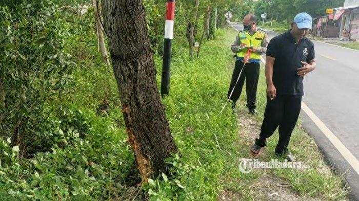 Honda Vario Tabrak Pohon Akasia di Kamal Bangkalan, Pengendara Diduga Mengantuk, Tewas di Lokasi