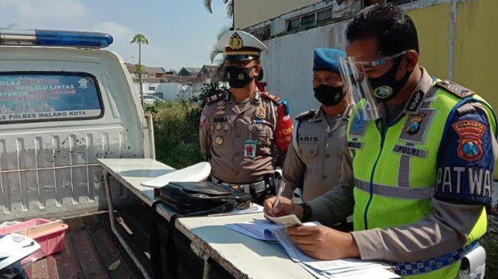 Kelengkapan SIM Pengendara Dominasi JenisPelanggaran5 Hari Operasi Patuh Semeru diKota Malang