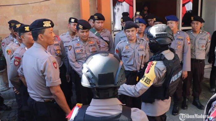 Ada Aksi 22 Mei di Jakarta,Jajaran Polres Gresik Berkeliling Kunjungi Objek Rawan Kerusuhan
