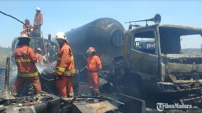 7 Truk Tangki Bahan Kimia di Surabaya Meledak, Insiden Berawal saat Karyawan Bakar Rumput Liar