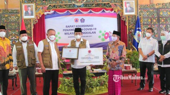 Pemkab Bangkalan Dapat Bantuan Dana Siap Pakai Rp 1 Miliar dari BNPB untuk Penanggulangan Covid-19
