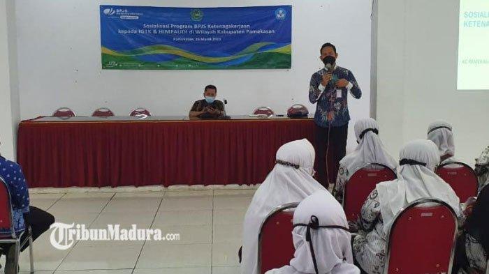 BPJS Ketenagakerjaan Pamekasan Sosialisasi Program BPJAMSOSTEK ke Pengurus Himpaudi dan IGTKI