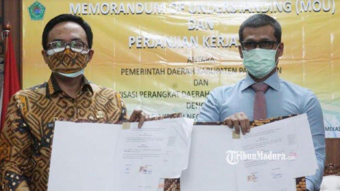 Ciptakan Pemerintahan Bersih, Pemkab Pamekasan Jalin Kerja Sama Pendampingan Hukum dengan Kejari