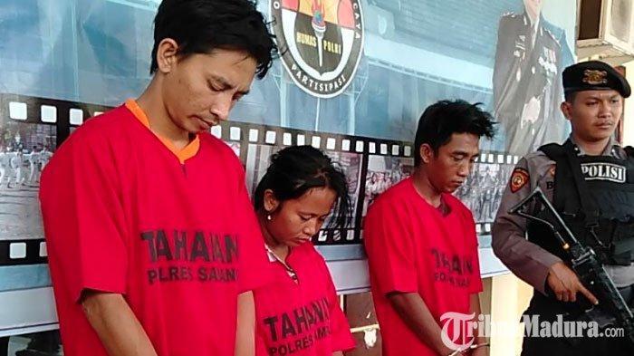 TigaPelaku Peredaran Narkoba DitangkapPolres Sampang, Satu Tersangka Berstatus Ibu Rumah Tangga