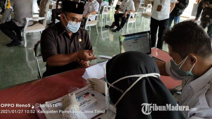 Ketua DPRD Pamekasan Ingatkan Masyarakat Jujur Soal Efek yang Dirasakan Setelah Divaksin Covid-19