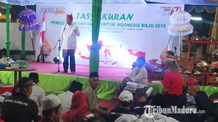 Bukan Rayakan Kemenangan, Relawan Jokowi-Maruf (Jokma) Gelar Syukuran Karena Pemilu Berjalan Lancar