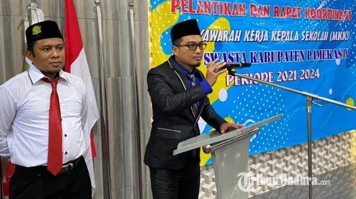 Pimpin Musyawarah Kerja Kepala Sekolah SMP Swasta Pamekasan, Syahid Formulasikan 5 Program Prioritas