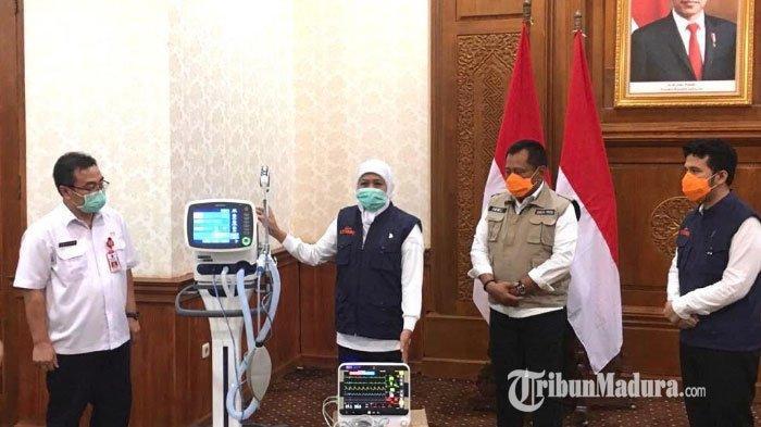 Pemprov Jatim Dapat Bantuan 16 Alat Ventilator dan Didistribusikan untuk Tangani Pasien Corona