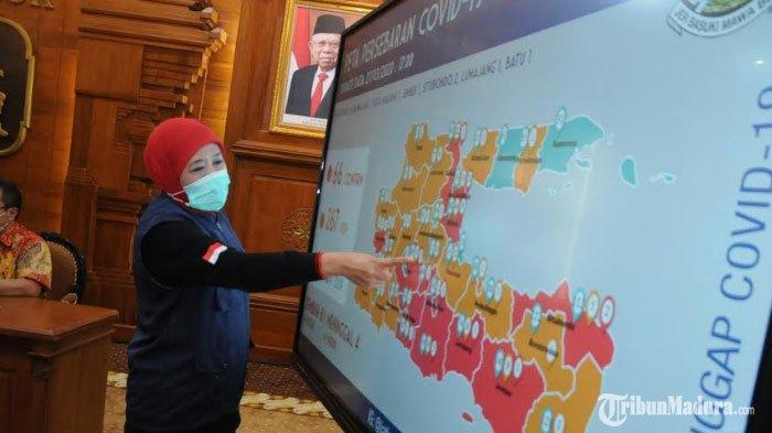 JumlahWilayah Zona Merah Virus Corona di Jawa Timur Bertambah, Warga Diminta Tingkatkan Kewaspadaan