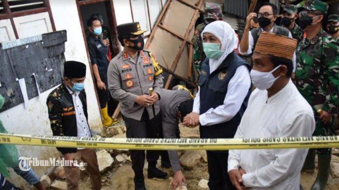 Kapolda Jatim hingga Kapolres Pamekasan Dampingi Gubernur Tinjau Longsor di Ponpes An-Nidhomiyah