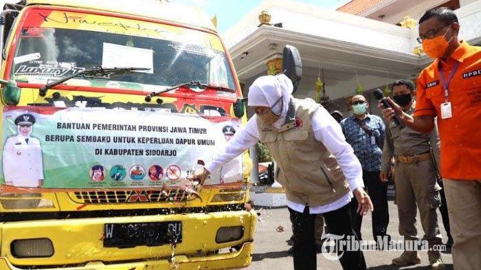 PSBB di Surabaya Raya Mulai Selasa Besok, Pemprov Jatim Suplai Sembako 4 Truk ke Sidoarjo dan Gresik