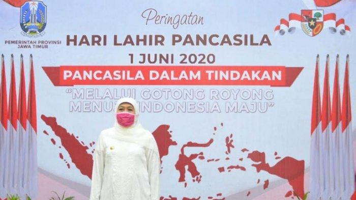 Pesan Khofifah dalam Peringatan Hari Lahir Pancasila, Perkuat Solidaritas di Tengah Pandemi Covid-19