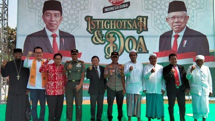 Menjelang Presiden dan Wapres Jokowi-Maruf Amin,Kirab Merah Putih & Istighosah Digelar di Surabaya