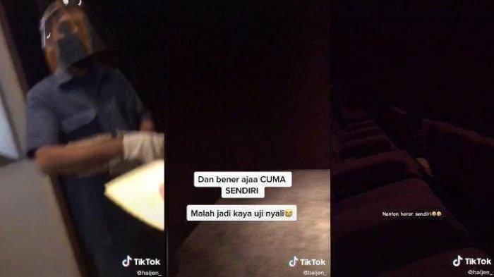 'Jadi Kaya Uji Nyali' Kisah Gadis Satu Ruangan Sendiri di Bioskop Saat Nonton Film Horor, FYP TikTok