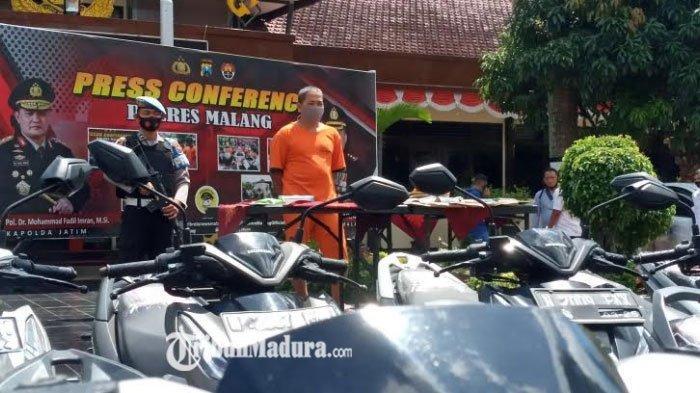 Pria di Malang ini Jual Motor Kredit Macet dari Leasing Demi untung, Aksinya Dihentikan Polisi