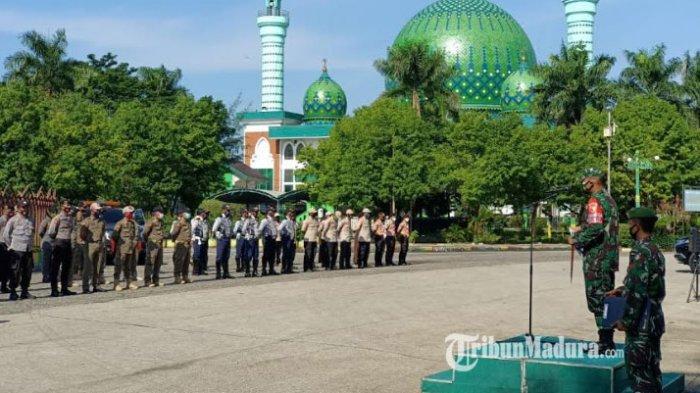 Kodim Pamekasan Gelar Apel Pasukan Disiplin Prokes Covid-19, Masyarakat Diminta Wajib Terapkan 3M