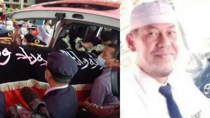 Kolase foto jenazah Captain Afwan tiba di rumah duka dan potret sang pilot Sriwijaya Air SJ 182 semasa hidup.