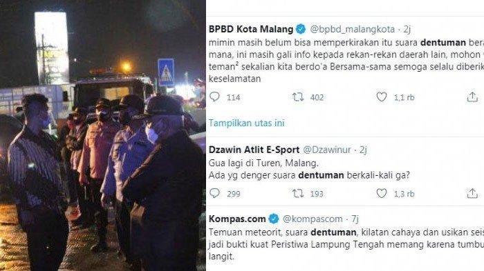 Suara Dentuman di Malang Berlangsung Lama, Warga Heboh di Twitter, BPBD Kota Malang Beri Penjelasan